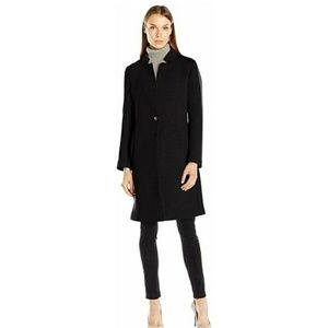 NWT Nanette Lepore Scuba Notched Collar Coat